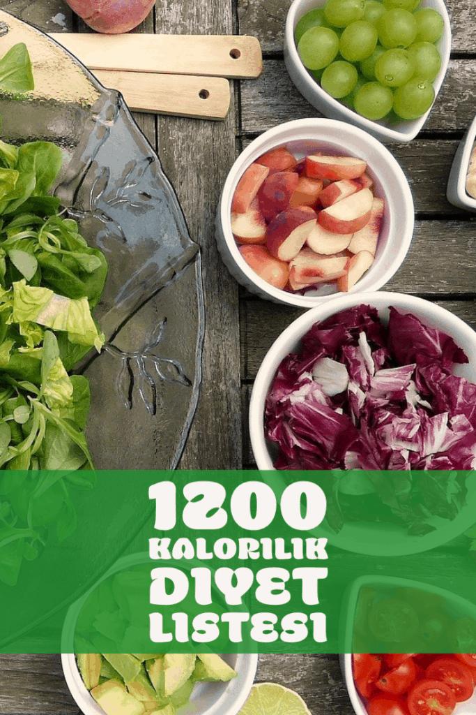 1200 Kalorilik Diyet Listesi ile Hızlı ve Sağlıklı Zayıflama